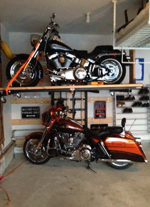 Motorcycle Storage Solutions: Garage Lifts for Motorcycle